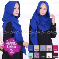 Hijab Jilbab Pashmina Instan / Pastan Kia Bahan Diamond Crepe