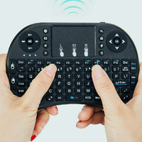 Wireless Qwerty Keyboard Mini 2.4Ghz Touchpad Combo With USB Adapter