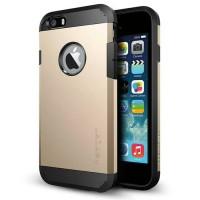(JGCS) Case Spigen Slim Armor Iphone 5 / 5G / 5S hardcase - Emas