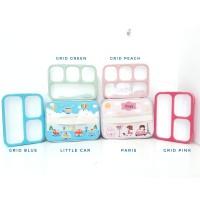 SET Lunch Box Kotak Makan Bento Yooyee dan Lunch Bag Tempat Bekal FULL