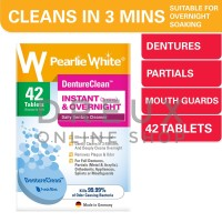 [IMPORT] PEARLIE WHITE Denture Clean Instant & Overnight 42 Tablets