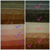 Kain batik bali Raibow series (meteran-pesanan Ibu Endah)