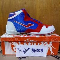 sepatu basket loggo jordan 991 blue red
