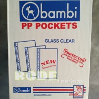 Pp Pocket Bambi A4 Glass Clear