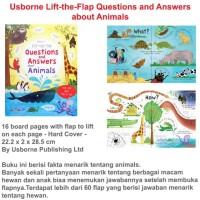 Harga usborne question and answer about animal buku import   Pembandingharga.com