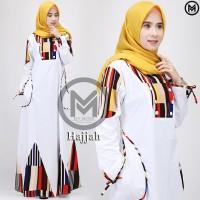 Gamis putih hajjah dress my mom gamis haji umroh simple casual modern