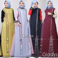 Gladys salt qazana gamis printing modern casual simple kekinian trendy