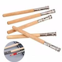 Pencil Extender Lengthened/Pemanjang Sambungan Pensil Kayu/Warna