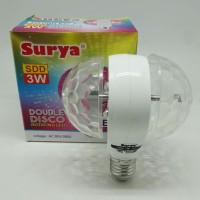Lampu LED Double Disco Rotary SURYA SDD 3W