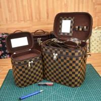 Set Tas Kosmetik Jumbo dan Standart Warna dan Motif Lengkap