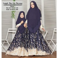 Busana Muslim Wanita Gamis Syari Couple Ibu Dan Anak Mayang Terbaru