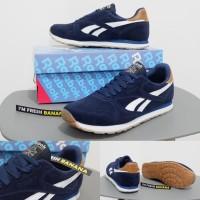 Jual Sepatu Running Reebok Rebook Reebook Classic Suede Navy Blue Casual Murah