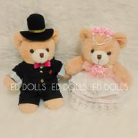 BONEKA: TEDDY BEAR - WEDDING (COUPLE)