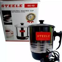 Harga mug elektrik teko listrik stainless q2 12 cm pemanas air heater | Hargalu.com