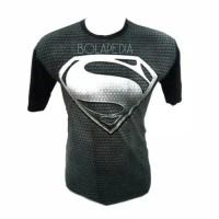 Baju Kaos Superman full body superhero gym fitness pria cowok