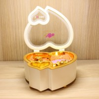 Kotak Musik Music Box Love Balet Balerina Lampu LED 2 In 1 Kado