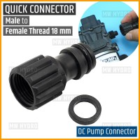 Konektor Pompa DC, Quick Connector Male to Female Thread 18 mm