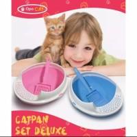 Cat Pan Set Deluxe Cat Litter Box -Tempat Pasir Kucing