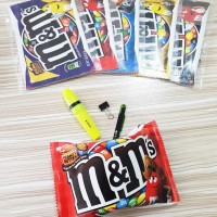 Pouch m&m's / Tempat Pensil Unik Permen Coklat m&m 's Chocolate Candy