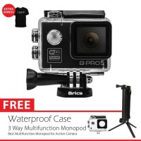 BRICA B-PRO 5 Alpha Edition (AE LITE) + 3 Way Monopod - Hitam