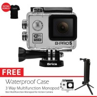 BRICA B-PRO 5 Alpha Edition (AE LITE) + 3 Way Monopod - Silver
