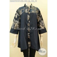 Produk Baju Batik Blouse Wanita Gemuk Desain Kekinian XXL BLS8879PBTY