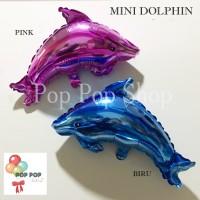 Balon Foil MINI Dolphin / Ikan Lumba - Lumba Dolpin