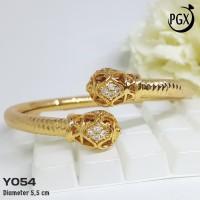 Y054 Gelang Bangkok / Bangle - Xuping Yaxiya- Perhiasan Lapis Emas 18K