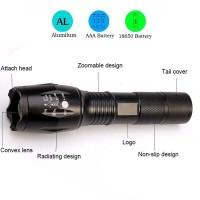 A66811 Senter LED E17 Tactical CREE XM-L2 8000 Lumens Baterai 18650 Ch