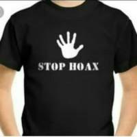 BAJU KAOS PRIA BIGSIZE STOP HOAX T SHIRT TSHIRT KAOS DISTRO