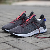 Termurah Adidas Questar Ride Multicolor Dark Grey Sole Blue Original