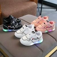 Sepatu Anak Led Sz 21-30 Model Fila