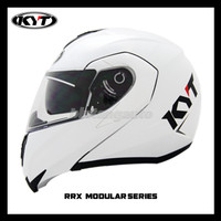 Helm KYT RRX Modular Flip Up Solid White