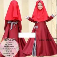 Hijab gamis syari anak perempuan baloteli maroon fit 6- Diskon