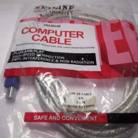 Kabel usb printer 10M berwarna transparan