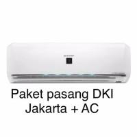 PEMASANGAN DKI + AC INVERTER 1/2 PK SHARP AH-XP6UHY R32 PLASMACLUSTER