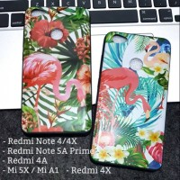 Casing Hp Case Flamingo Flower Xiaomi MiA1 Mi5X Mi 5x A1 Redmi Note 4