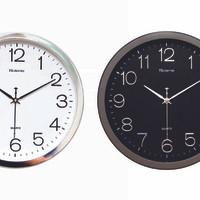 Jam Dinding Diameter 32 CM - List Silver - BEST SELLER - Hitam 493ff22f2a