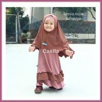 Gamis casila (GAMISILA) Aisyah Size 3(3-4y) Original