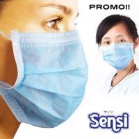 SENSI Masker / Masker SENSI / Masker Motor Sensi 3ply earloop PROMO!!