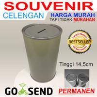 Souvenir Celengan Kaleng Polos Permanen