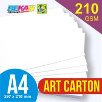 Kertas Art Carton 210 GSM A4 21 x 29.7 cm