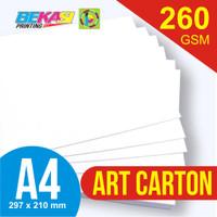 Kertas Art Carton 260 GSM A4 21 x 29.7 cm