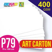 Kertas Art Carton 400 gram Plano 79 x 109 cm