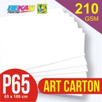 Kertas Art Carton 210 gram Plano 65 x 100 cm