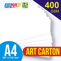Kertas Art Carton 400 GSM A4 21 x 29.7 cm