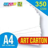 Kertas Art Carton 350 GSM A4 21 x 29.7 cm