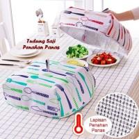 Tudung Saji Penahan Panas 37X37x15 Cm Lipat Makanan Meja Makan Dapur