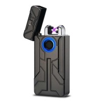 Korek Api Elektrik Iron Man Touch Pulse Plasma USB Lighter BARU