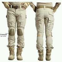 Celana emerson paket dengan deker pelindung lutut